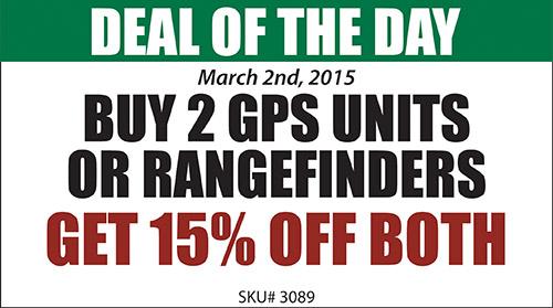 Buy 2 GPS or Rangefinders and get 15% off both