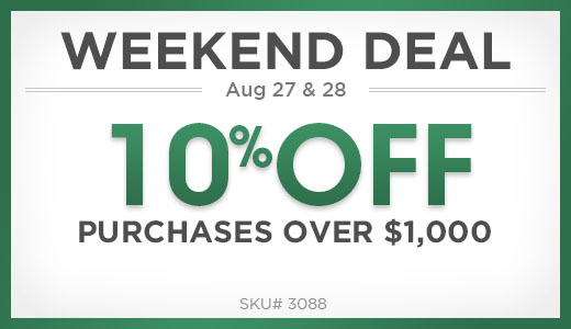 10% Off Purchases Over $1,000