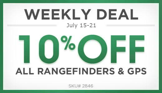 10% off rangefinders & GPS