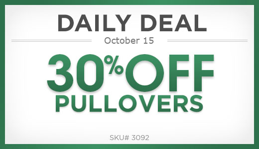 30% off pullovers