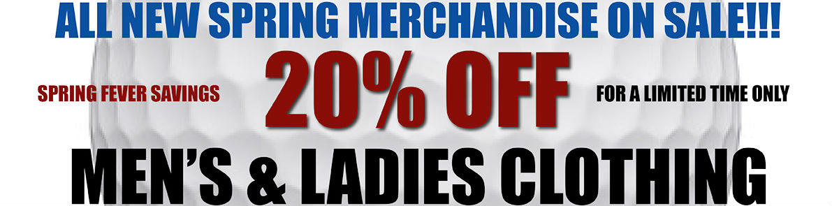 Spring clothing sale