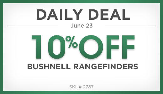 10% Off Bushnell Rangefinders