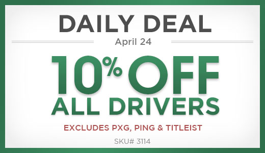10% Off All Drivers