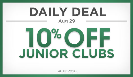 10% Off Junior Clubs