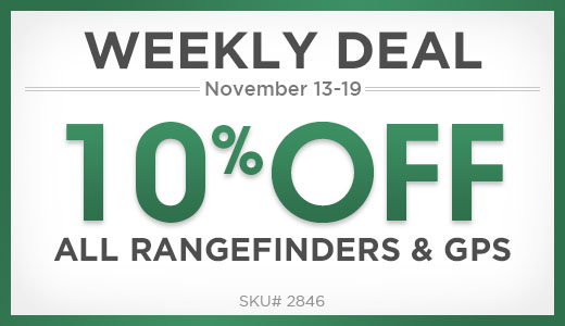 10% Off All Rangefinders & GPS