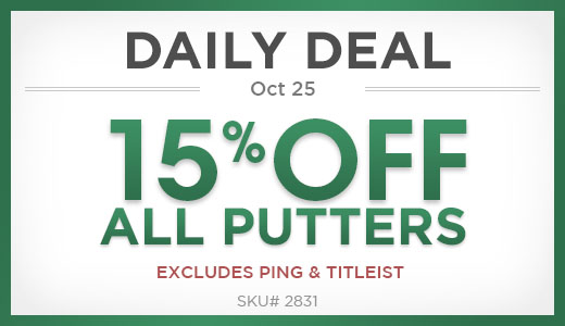 15% Off All Putters