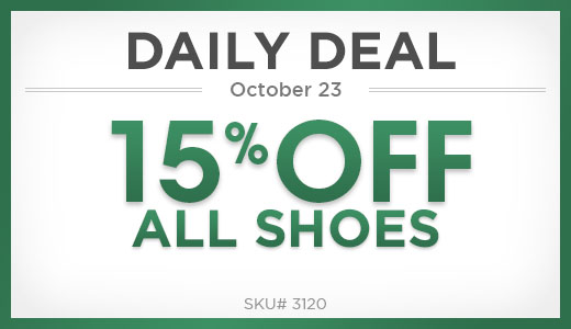 15% Off All Shoes