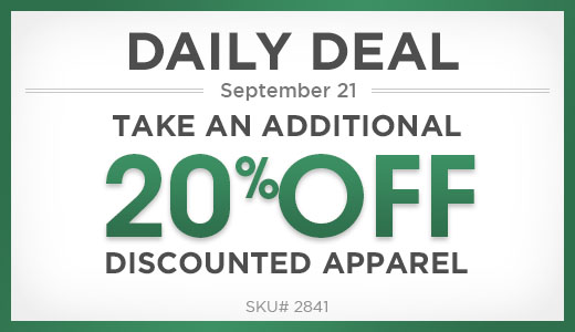 20% off already discounted apparel