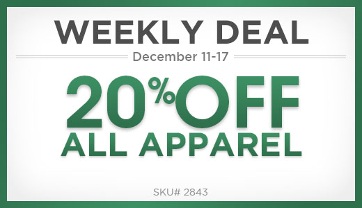 20% Off All Apparel
