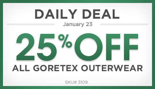 25% Off All Goretex Outerwear