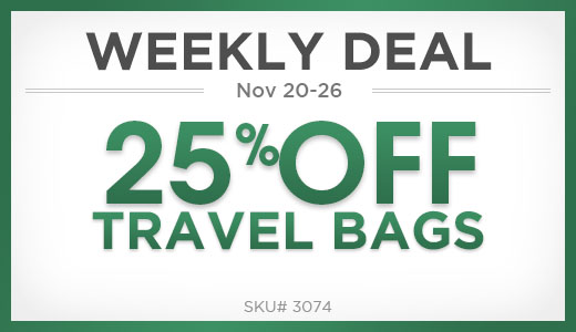 25% Off Travel Bags