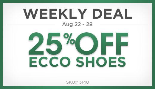 25% off ecco shoes