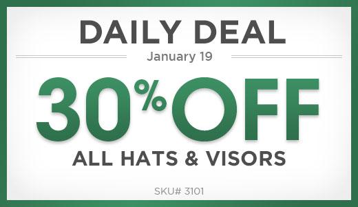 30% Off All Hats & Visors