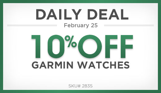 10% off garmin watches