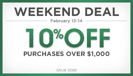 10% off purchases over $1000