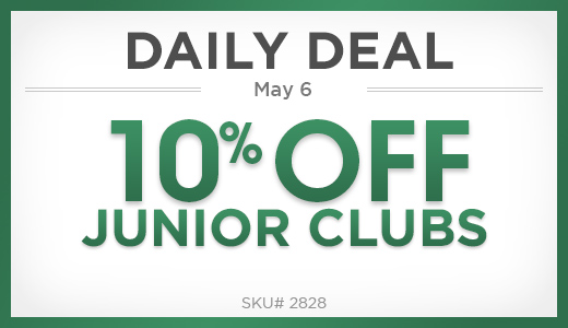10% off junior clubs