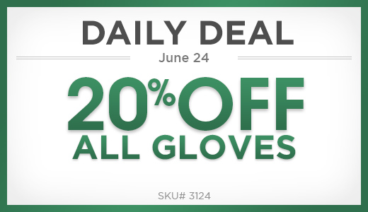 20% off all gloves