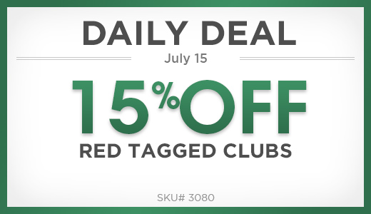 15% off red tagged clubs