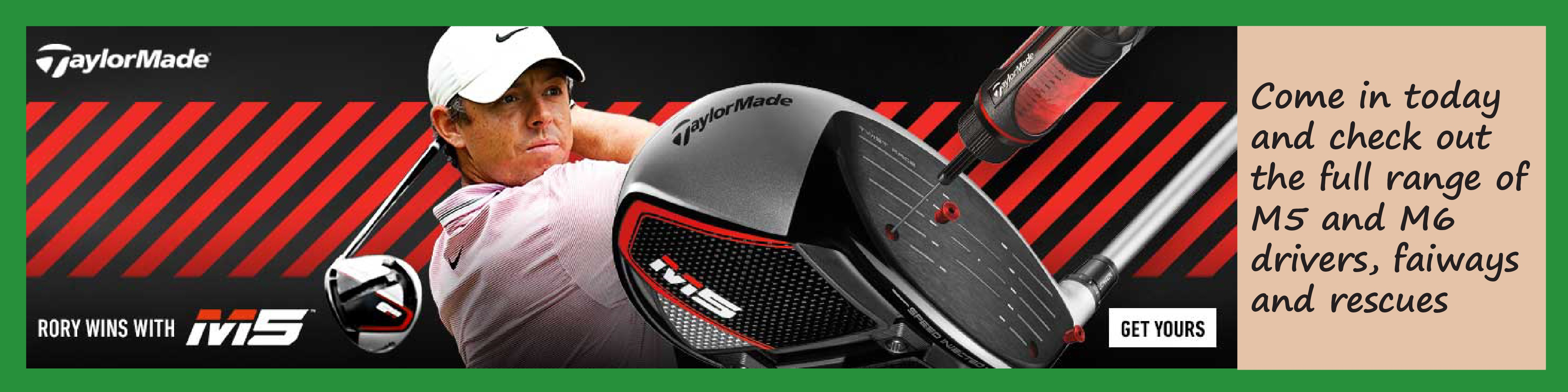 TaylorMade M5 Banner
