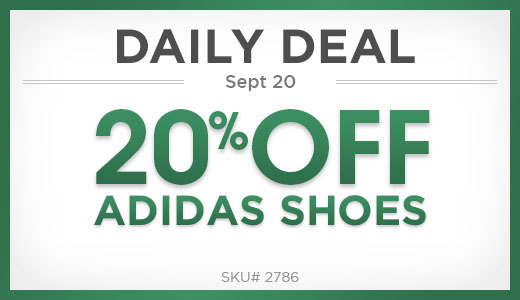 20% off adidas shoes