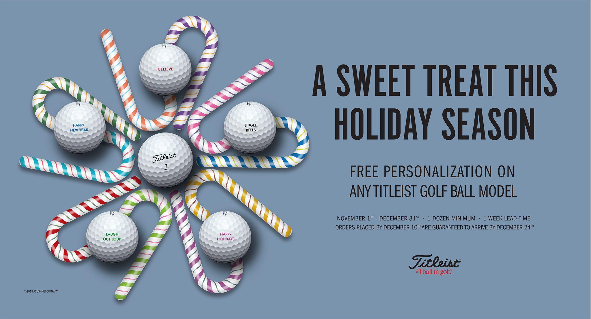 free personalization on titleist balls