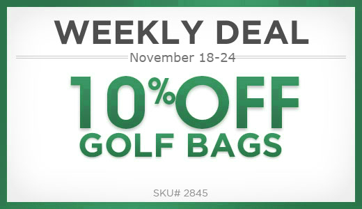 10% off golf bags