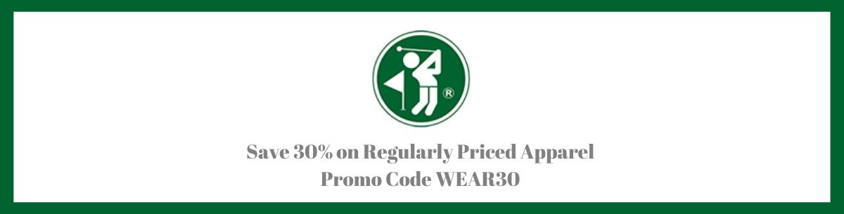 save 30% off regularly priced apparel